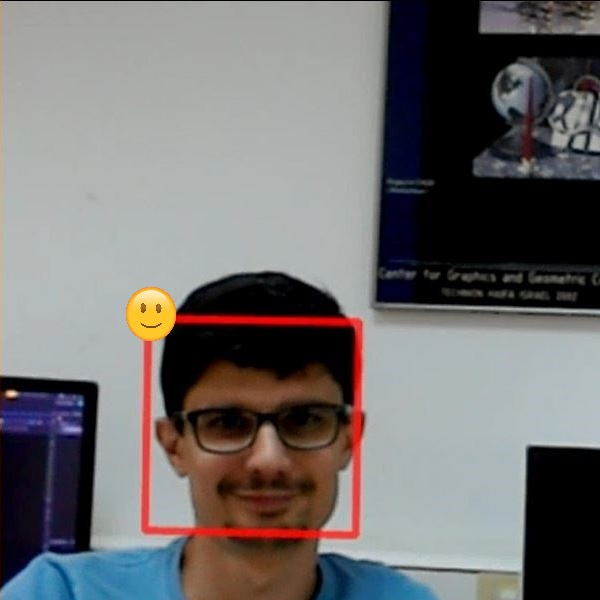 Picture of HoloLens Face Emotion Detection